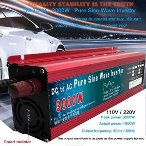 Pure Sine Wave Inverter DC 12v/24v To AC 110V/220V 3000W Solar Power Converter