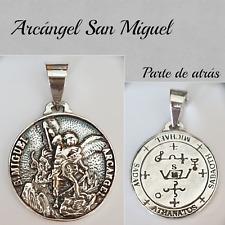 SAN MIGUEL  MEDALLA COLGANTE ARCANGEL  SILVER PLATA ARCHANGEL SAN MIGUEL
