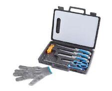 Fishing Knife 2 Filleting Knives,Boning Knife Sharpener Glove Scale 9 pcs SET