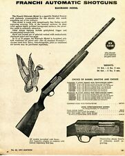 1975 Print Ad of Franchi Eldorado Model Automatic Shotgun