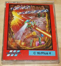 Kingsoft Fortress underground cassette Tape Commodore 16 c16 Plus/4 funciona