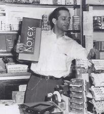 1952 PHOTOGRAPH SALESMAN & GIANT KOTEX BOX OF SANITARY NAPKINS