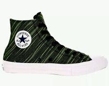 Converse Chuck Taylor All Star II CTAS Knit Hi MEN 1O WMNS 12 Black Volt $85 NEW