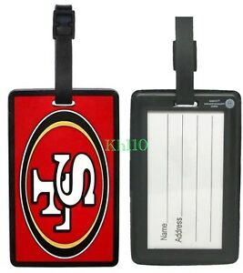 NFL San Francisco 49ers Soft Luggage ID Bag Tags /Gym bag / Golf bag