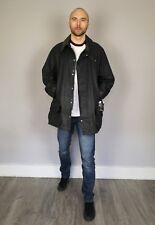 Mens Barbour Beaufort Wax Cotton Jacket Tartan Lined Vintage Size 50 UK XL