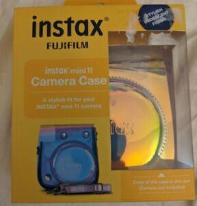 Fujifilm Instax Mini 11 Iridescent Camera Case W/Strap