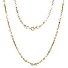 9ct Oro Amarillo Collar Collar Redondo Belcher 18'' PULGADAS