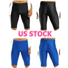 US Sexy Men Spandex Compression Shorts Leggings Baselayer Gym Sports Tight Pants