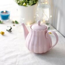 Teiera di porcellana-forma classica, 800 ml, perfetto per tè e caffè rosa NUOVO