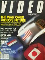 Video Magazine February 1988 - War Over Videos Future Akai - Mitsubishi No Label