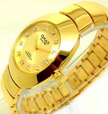 055P OMAX Men's Luxury Dress Wrist Watch Vantage Style Gold Strap Dial Quartz