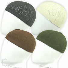 2784455361b Men Skull Cap Muslim Islamic Prayer Hat Topi Kufi Head Wear Clothing Colours