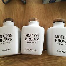Set Of 3 Ceramic Molton Brown  Display Pots  For Shampoo,conditioner & Body Wash