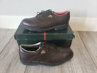 Nunn Bush Men's Brown Leather Golf Shoes Lace Up size 12 M Monroe Smooth