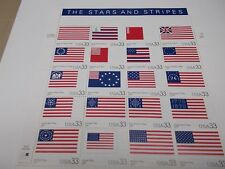 #3403 1999  STARS AND STIPES  Mint Sheet of 20 33 Cent Gummed Postage Stamps
