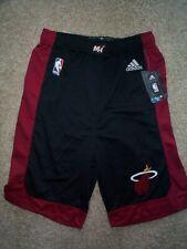 ($28) ADIDAS Miami Heat nba Basketball Jersey Shorts YOUTH KIDS BOYS (m-medium)