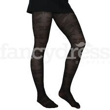 Great Britain Flag Black Footed Tights One Size Royal Street Party NEW