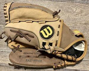 "Wilson A440 Genuine Leather Fast Pitch Glove  Monstaweb Left Hand Throw 12"""
