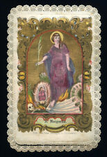santino merlettato-holycard-canivet S.MARGHERITA DI ANTIOCHIA V.M.