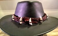 Crocodile Leather hat band 11 teeth up to 3 cm long Australian Made Style Dundee