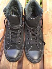 Converse Chuck Taylor All Star Hi Zapatos Tenis Entrenadores Reino Unido 11 Negro