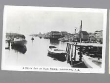 pk35401:Real Photo Postcard-A Misty Day at Blue Rocks,Lunenburg,Nova Scotia