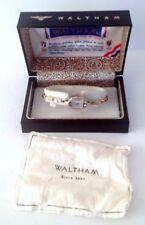 Working WALTHAM Centennial 10K RGP Lady's Watch W/Original Box Swiss 17 Jewels