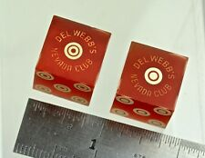 2 Dice from Del Webb's Nevada Club; Two Different Kinds of Bullseyes