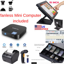 New mini Fanless Pc, 1 x 80mm Printer Pos Point Sale System Combo Retail