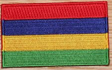 MAURITIUS AFRICA Country Flag Embroidered PATCH Badge