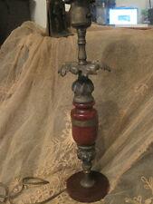 BAKELITE, Petite Desk Lamp with Bakelite Foot and Column, Metal Floral Accent