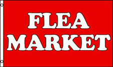RED FLEA MARKET 3X5 FLAG sign FL491 wall signs window LARGE 3 x 5 advertizing