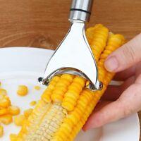 Stainless Steel Corn Slicer Peeler Thresher Cob Cutter Strip Remover Tool ❤