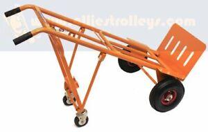 Ollies Trolleys. 3 in 1 Multi Purpose Sack Truck. Puncture Proof Tyres. OT1002W6