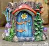 Fairy House Blue door Planter Pot garden ornament decoration Pixie lover gift