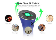 DEME-PureVIS Air Monitoring Purifier (Blue)  Ionic, Odor Reduction, Kill Virus