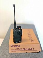 Alinco UHF FM Handheld Transceiver DJ-A41w/ Manual, Batteries, Charger, Clip