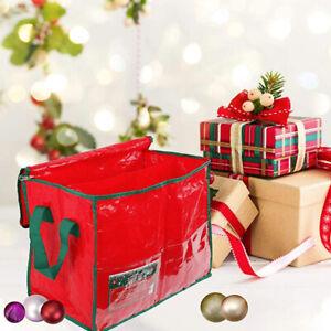 Large Christmas Storage Bag Xmas Trees Decoration Gift Bauble Organiser 45x26x35