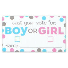 Gender Reveal Voting Cards - Boy Girl Baby Shower - Pack of 50 - Party Supplies