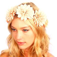 Kristin Perry Coral Flower Wreath Headband Floral Crown