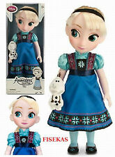 "Disney Store Animators Collection Elsa Doll w/ Plush Olaf 16"" Frozen Toddler NEW"