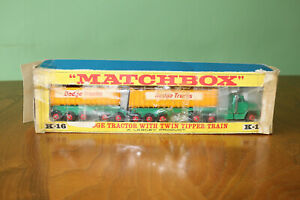 Matchbox King Size K-16 Dodge Tractor With Twin Tipper Train boxed