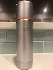 Starbucks Stainless Steel Travel Thermos 16oz Silver & Orange