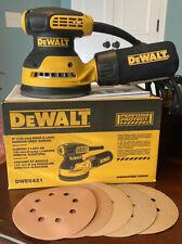 DEWALT DWE6421 120V 5 inch Random Orbital Sander **BONUS** Bag + Sanding Discs