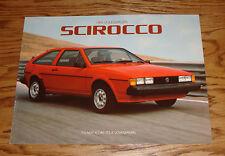 Original 1984 Volkswagen VW Scirocco Sales Brochure 84