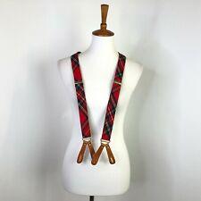 Polo Ralph Lauren Mens Braces Suspenders Plaid Tartan