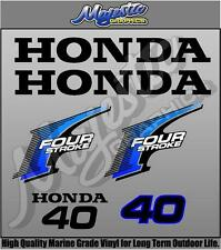 HONDA 40hp FOURSTROKE - DECAL KIT - OUTBOARD DECALS