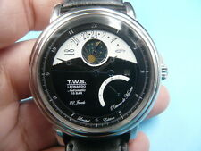 New Old Stock T.W.S. Leonardo Moon Phase Power Reserve Automatic Auto Men Watch