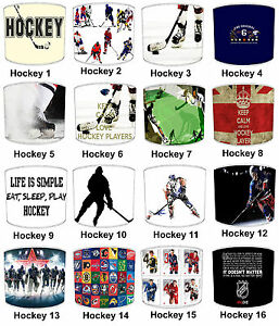 Lampshades Ideal To Match Ice Hockey Duvets, Wall Decals & Stickers