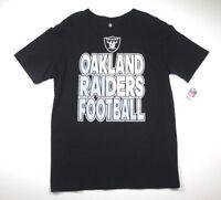 NFL Oakland Raiders Youth Boys Team Pride Black Short Sleeve T-Shirt 18-20 XL